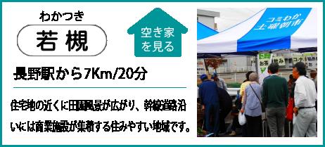 若槻 長野駅から7Km/20分 住宅地の近くに田園風景が広がり、幹線道路沿いには商業施設が集積する住みやすい地域です。